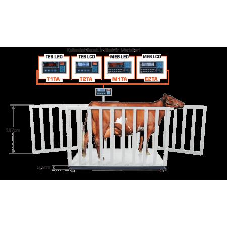 Platforme pentru animale vii 4LC-SC  pe 4 ceule de sarcina